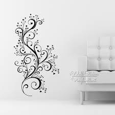 beautiful flower wall sticker floral wall decal diy modern blossom
