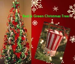 beautiful red green christmas tree part 14 traditional