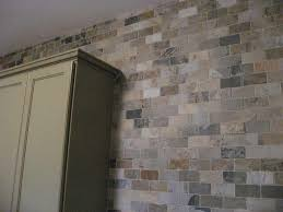 tiles backsplash travertine material stainless steel cabinet