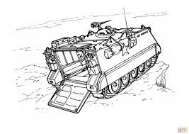 m113 armored personnel carrier coloring page free printable