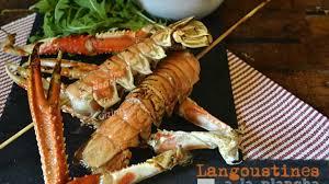cuisine langouste plancha langoustines à la plancha et beurre d herbes recette par kaderick