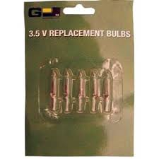 replacement 3 5v stringlight bulbs 5 pack clear string