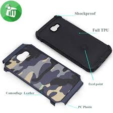 camouflage shockproof armor back cover for samsung galaxy a7
