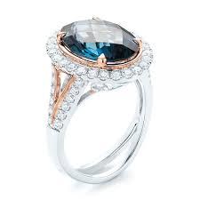 london blue topaz engagement ring london blue topaz and diamond halo fashion ring 103754