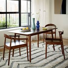 lena mid century dining table west elm