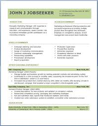 Resume Template On Word 2007 Word Resume Templates Free Resume Template And Professional Resume