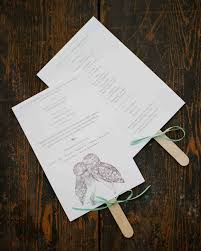 how to make wedding fan programs particular put a bird on it wedding program fans to keep guests