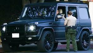 matte black mercedes g class jenner gets a speeding ticket in g wagen from hell