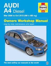 audi a4 diesel mar u002708 oct u002715 08 to 65 haynes publishing