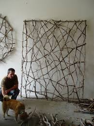 White Decorative Branches Wall Art Ideas Accessories Great Twig Wall Art Square Big Sample