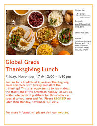 global grads thanksgiving lunch 2017