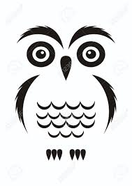 clipart owl black and white black vector cartoon simple owl icon on white royalty free