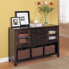 Entryway Table With Baskets Console Table With Baskets Dickson Console Table With Basket