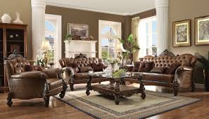 versailles 52100 sofa in light brown pu by acme w optional items