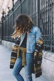 pattern jeans tumblr coat tumblr printed tartan plaid denim jacket jacket blue jacket