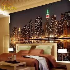 wholesale high quality custom 3d photo wallpaper city night view