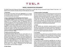 here u0027s the tesla model 3 reservation agreement for thursday