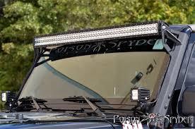 rigid e series 50 led light bar jk mounts bundle jeep led