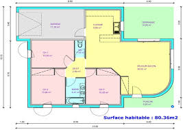 les 3 chambres plan de maison 3 chambres chambre