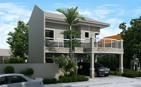 download 2 storey house design with firewall house scheme