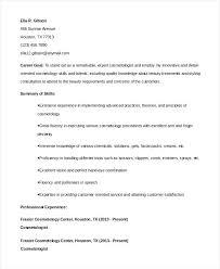 cosmetologist resume beautician cosmetologist resume exle resume exles