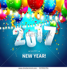 happy new year balloon happy new year 2017 greeting card stock vector 476344489