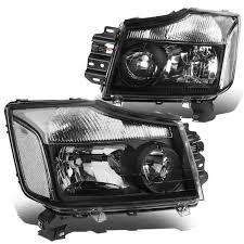 nissan armada lowering kit 15 nissan titan 05 07 armada crstal headlights black clear