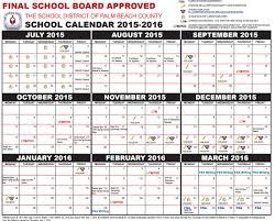 parents get your palm county school calendar for 2015 2016