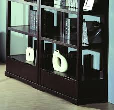finish contemporary home office w desk u0026 bookcases