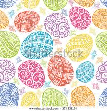 Easter Egg Decoration Vector by Happy Easter Background Easter Egg Seamless Stock Vector 129797261
