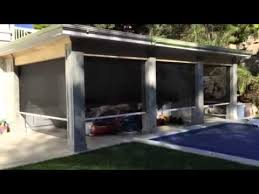 Motorized Screens For Patios Motorized Retractable Screens For Outdoor Patios Youtube