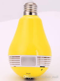 remote audio video lighting online cheap panorama bulb light wifi spy camera 960p video and