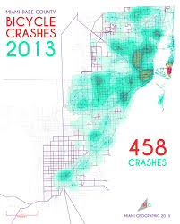 Little Havana Miami Map by Bicycle Crashes In Miami Dade County 2005 2013 Miami Geographic