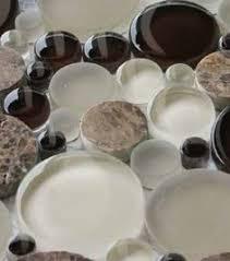 Glass Tile Bathroom Backsplash by The Beautiful Faces Of Clover Arabesque Grigio Mosaic Glass Tile