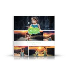 8x8 photo book 8x8 watercolor hello cover photo book with six photos for