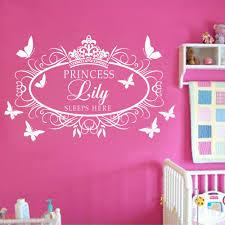 disney princess wall sticker 3d window view art decal mural decal name princess crown wall art sticker kid decal nursery decor in wall art princess wall sticker