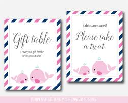 baby shower signs baby shower whale themed table signs whale baby shower table