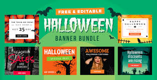 halloween banner ads u2013 festival collections