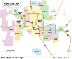 phx map arizona area map of greater and scottsdale area
