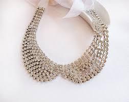 rhinestone collar necklace images Rhinestone collar necklace jewelry crystal bib by adbrdal on etsy jpg