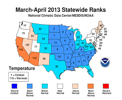 us weather map for april national climate report april 2013 state of the climate