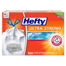 hefty ultra strong 13 gallon kitchen trash bag 160 count