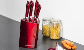 Red Kitchen Knife Block Set by Morphy Richards Knife Set Groupon Goods