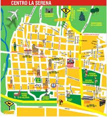 Map De Los Angeles by La Serena Center Tourist Map La Serena Chile U2022 Mappery