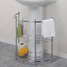 bathroom pedestal sink cabinet turn wasted space under the sink into the built in storage you