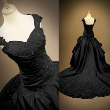 victorian ball gown backless sweetheart bridal halloween black