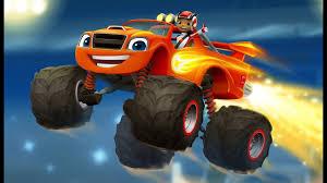 blaze monster machines racing cars game kids race