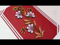 decorate quilling greeting cards and wall designs by using