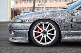 nissan gtr skyline drawing car u0027s customized body paint is a sharpie lost in internet