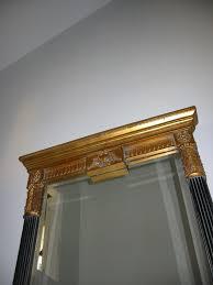 Mirror For Sale Lion Crest Gilt Wood Italian Black Mirror For Sale Antiques Com